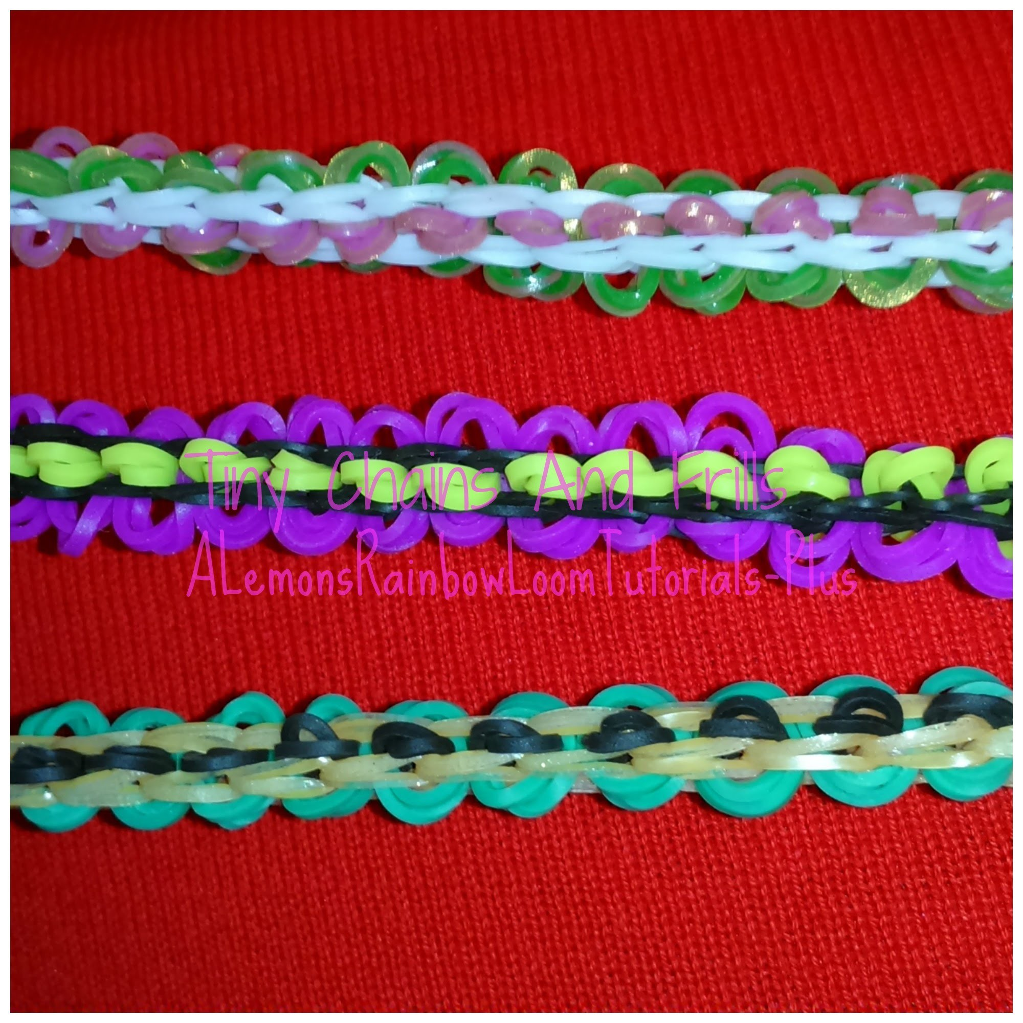 Rainbow Loom - Tiny Chains And Frills Bracelet | How to