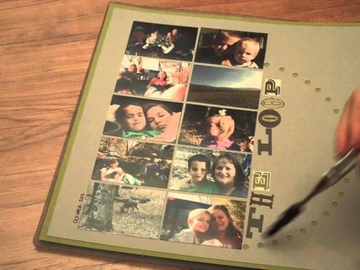 Scrapbooking Tutorial: How to create a large circle outline with eyelet punch