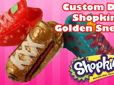 Shopkins DIY Custom Toy Gucci Golden Sneaky Sue - DIY Toy Craft Video