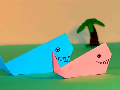 Simple origami for kids. Origami Whale.