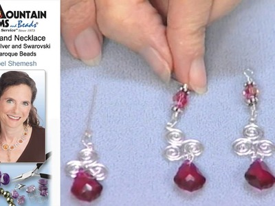 Single-Strand Necklace with Sterling Silver Drops and Findings and Swarovski Crystal Beads and Drops
