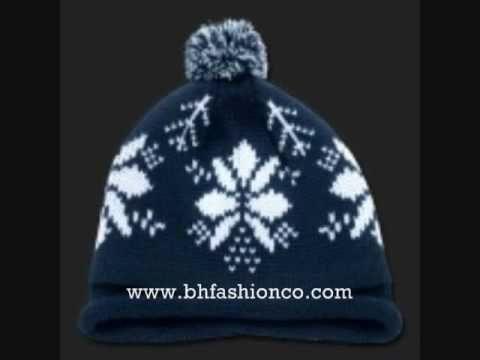 SNOWFLAKE BEANIES SKI CAPS HATS WINTER HEADWEAR  -WWW.BHFASHIONCO.COM