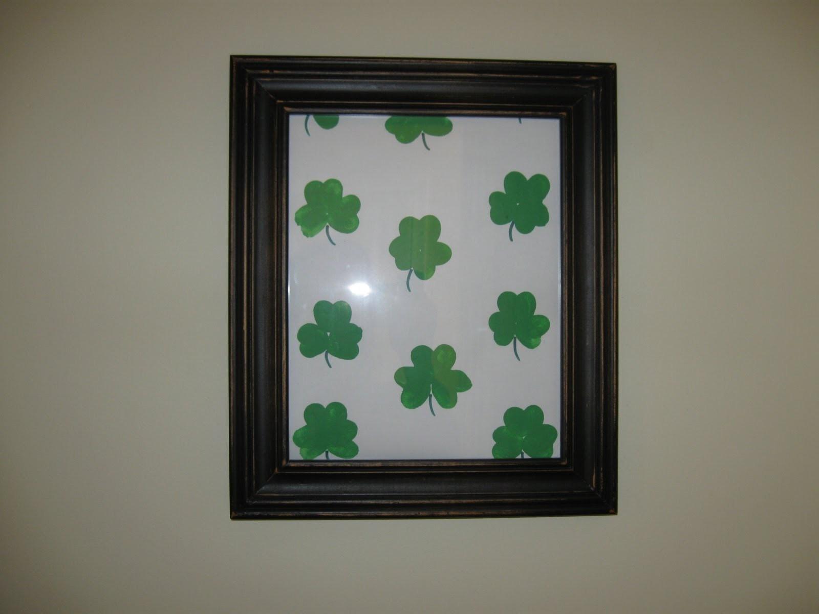 St. Patrick's Day Shamrock Artwork Craft Tutorial