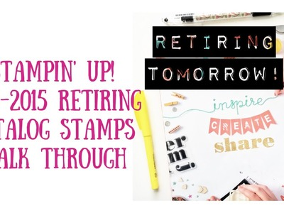 Stampin Up Retired List 2015. Walk through the catalog