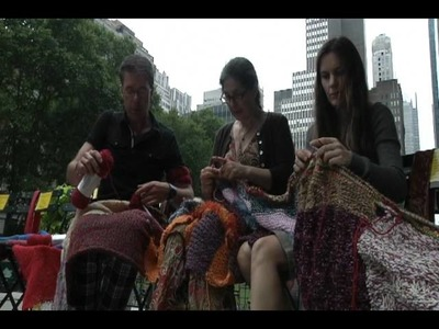The Big Circle World Wide Knitting in Public Day