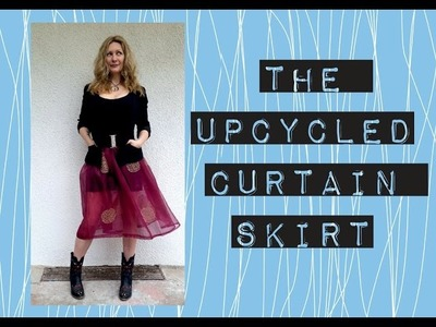 The Upcycled DIY Curtain Skirt Tutorial
