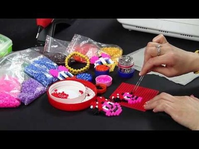 Video Tutorial - Pyssla topolina fermacapelli - Hama beads - DIY Mouse hair clips Full Ita