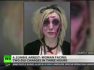 'Zombie' arrested twice in single night for drunken driving