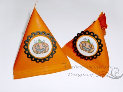 #1 Halloween Crafts Series 2012 - Tea Bag Treat Box - Tutorial
