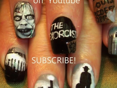 #1 Nail Art Tutorial | DIY Scary Horror Film Halloween Nail Designs | The Exorcist