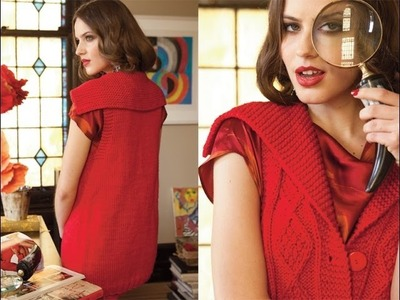 #1 Shawl Collar Vest, Vogue Knitting Winter 2012.13