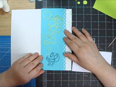 Birthday card for diver - scrapbooking by Hoinka Crafts