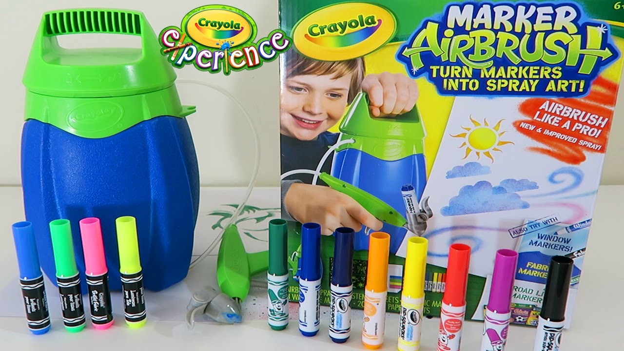 Crayola Marker Airbrush Playset | Easy DIY Make Your Own Airbrush Art!