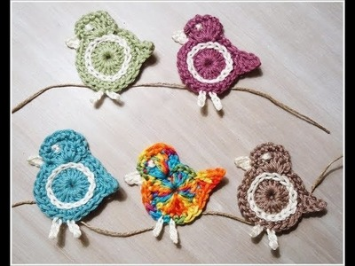 Crochet Bird Applique -1