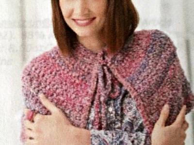 Crochet Cape Lion Brand pattern   Part One