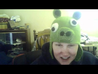 Crochet Pig Angry Grumpy Bird Hat for tjw1963