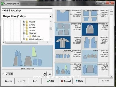 DesignaKnit 8 Original Pattern Tutorial Exploring The New Shaping Thumbnails Directory