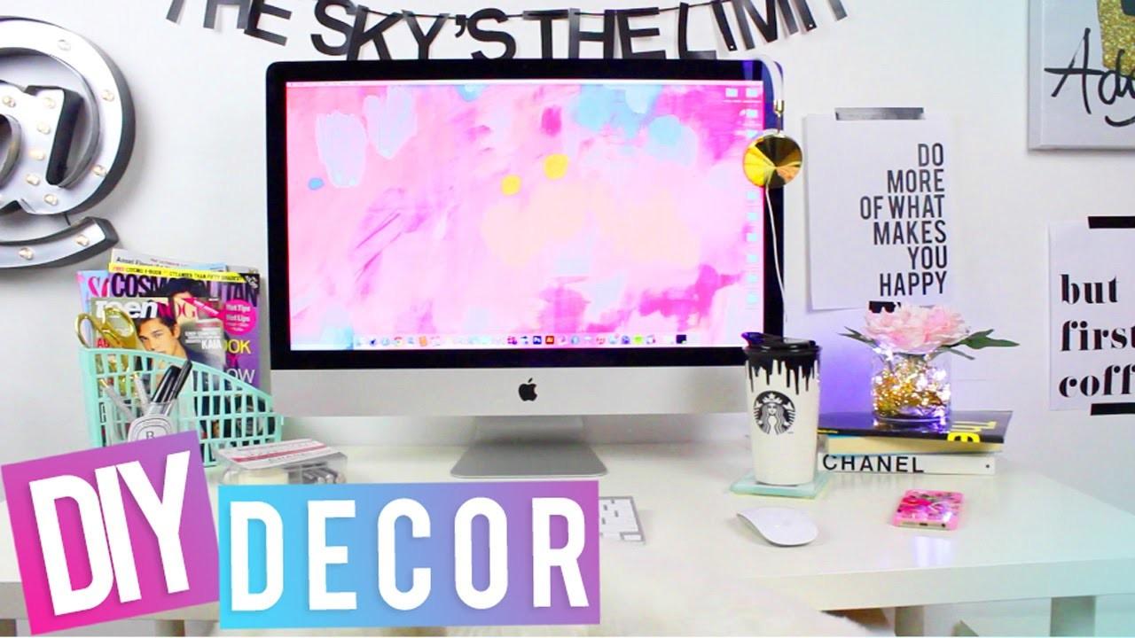 DESK TOUR + DIY Desk Decor