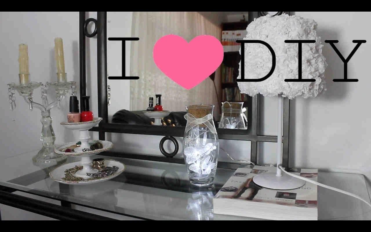 DIY 4 ideas para decorar tu habitación - DIY 4 ideas to decorate your bedroom (Subtitled)