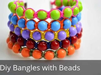 Diy Bangles Tutorials - how to make bangle bracelets out of string and beads