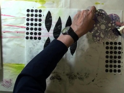DIY Collage Tissue Papers Using Gesso and Stencils