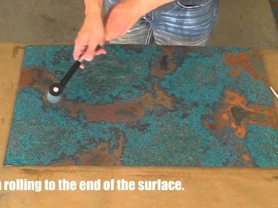 DIY Copper Backsplash using Color Copper Sheets