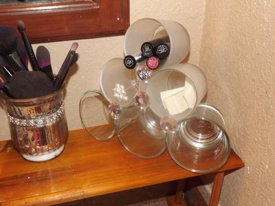 DIY Glass Storage Using Candle Jars