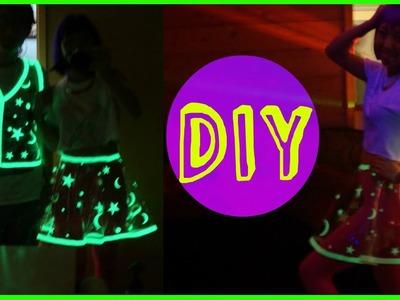 DIY Glowing Vinyl Skirt Costume