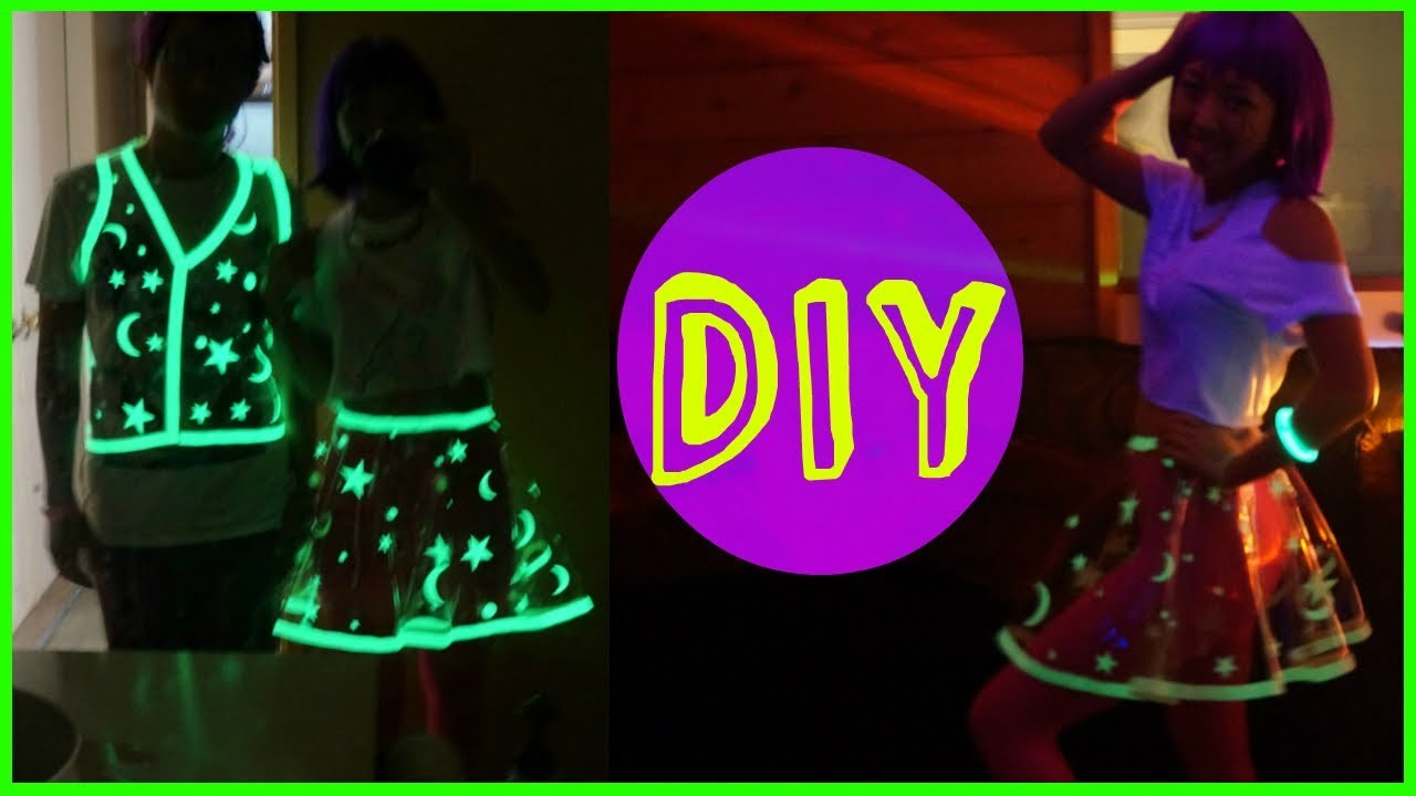 DIY Glowing Vinyl Skirt Costume
