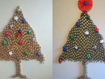 DIY | How to make Christmas Tree from toilet paper roll