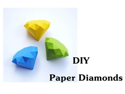 DIY - How to make Paper Diamonds