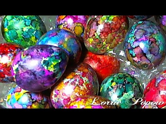 DIY Learn How to Decorate and Color Easter Eggs with Alcohol Inks (easter egg ink)