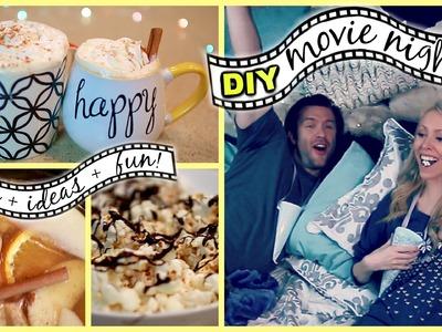 DIY MOVIE NIGHT: Snacks, Ideas + Fun!!