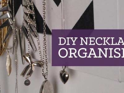 DIY necklace organiser & room decor   CharliMarieTV