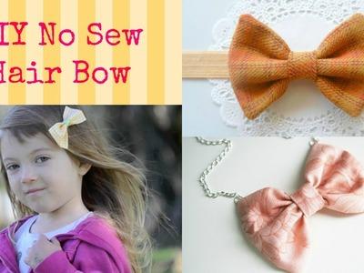 DIY No SEW Hair Bow