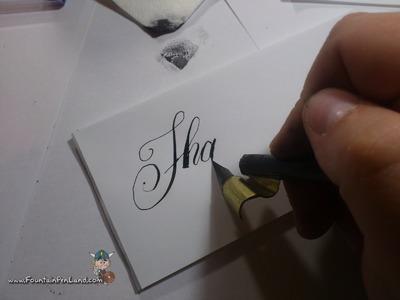 DIY: Oblique penholder for dips and copperplate script