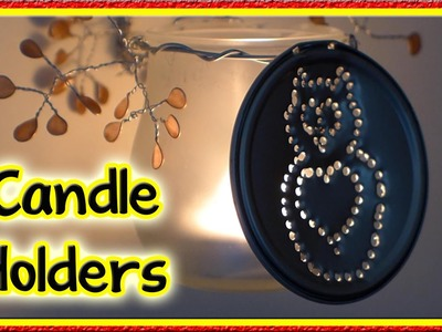 DIY Owl Candle Holders