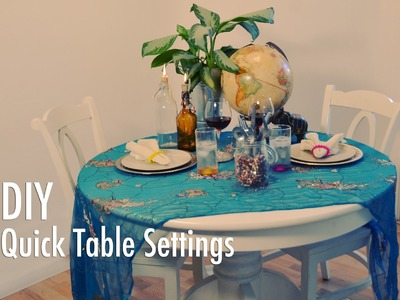 DIY Quick and Easy Table Settings with Mr. Kate