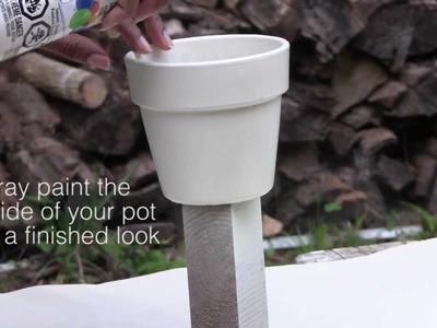 DIY Spray Painted Clay Pot