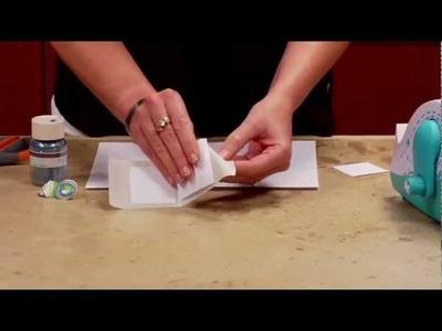 DIY Xyron Glitter Gift Tag