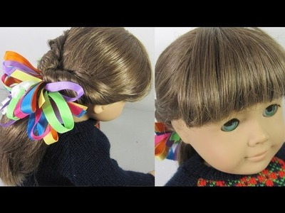 Doll Crafts: Hair styles Flip tail for your American Girl doll