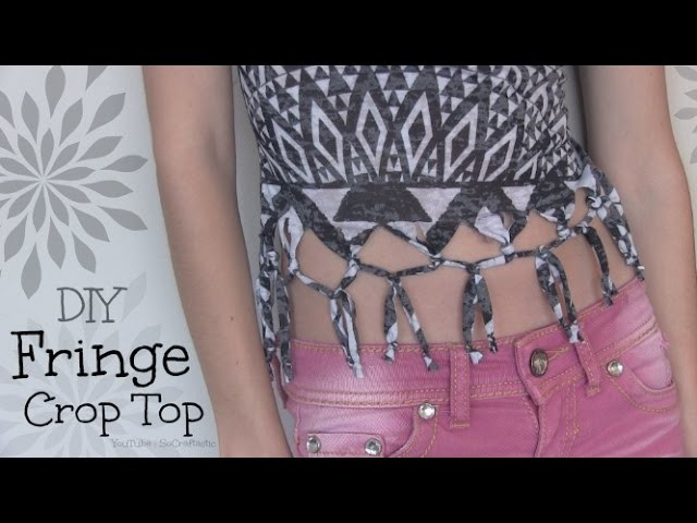 Easy DIY Fringe Shirt. Crop Top - Summer T-Shirt Recon - How To