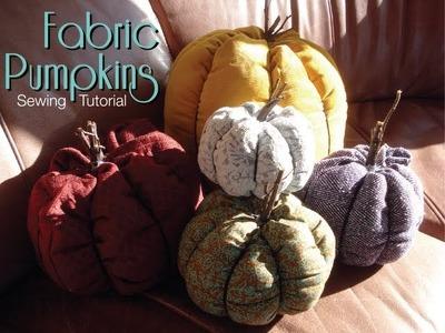Fabric Pumpkins - Sewing Tutorial