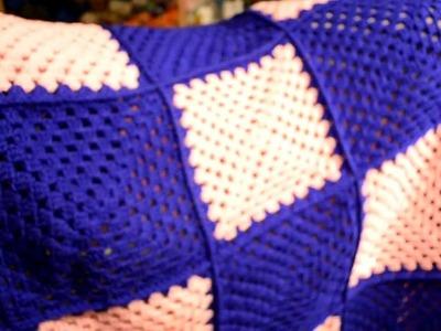 Granny square crocheted blanket