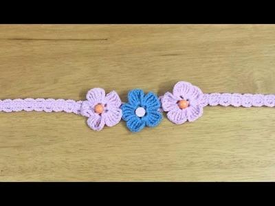 How to Crochet a Headband - DIY - Tutorial .
