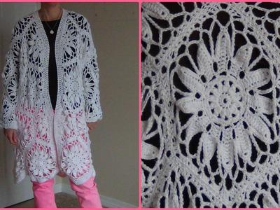How to Crochet a Jacket using hexagon motifs - Part 1