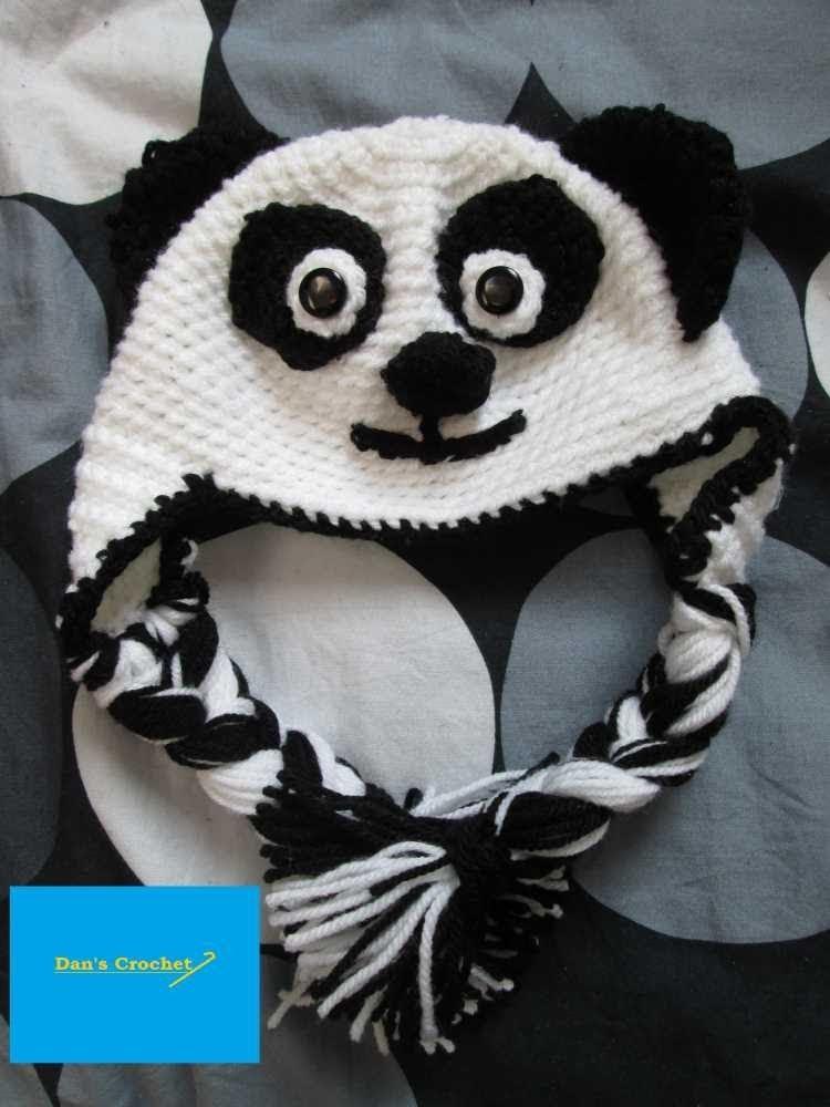 How to Crochet an Adult Panda Hat Part 1