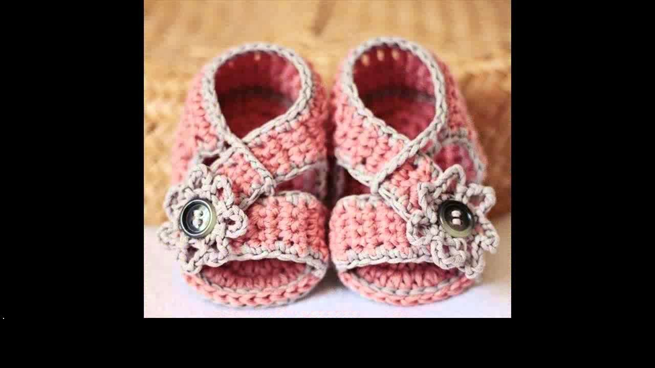 How to crochet baby sandals tutorial