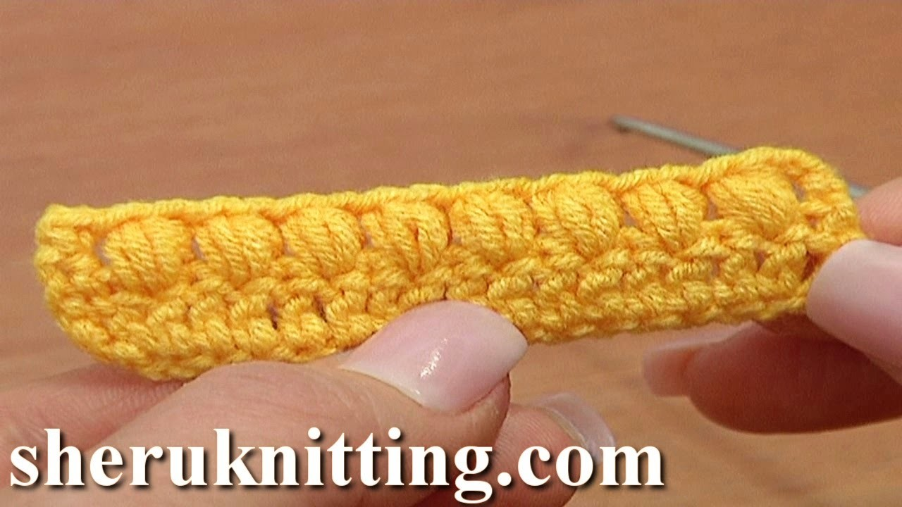 How to Crochet Puff Stitch Second Way Tutorial 37 Part 2 of 3 Crochet Basics