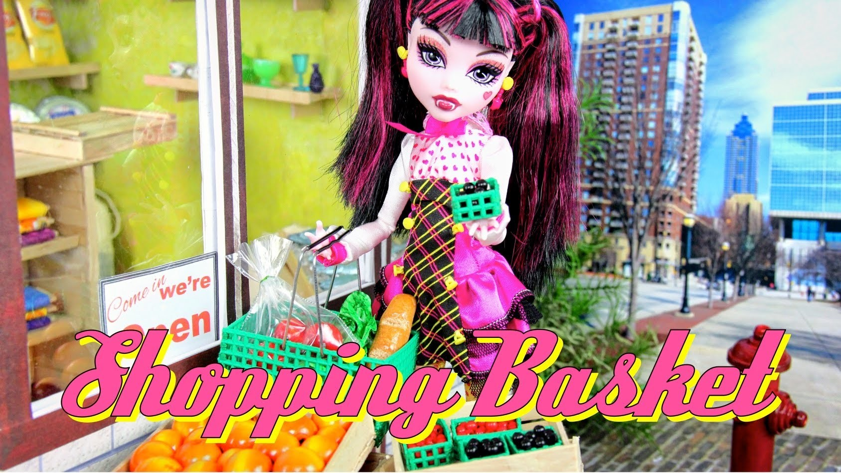 How to Make a Doll Shopping Basket - Doll Crafts